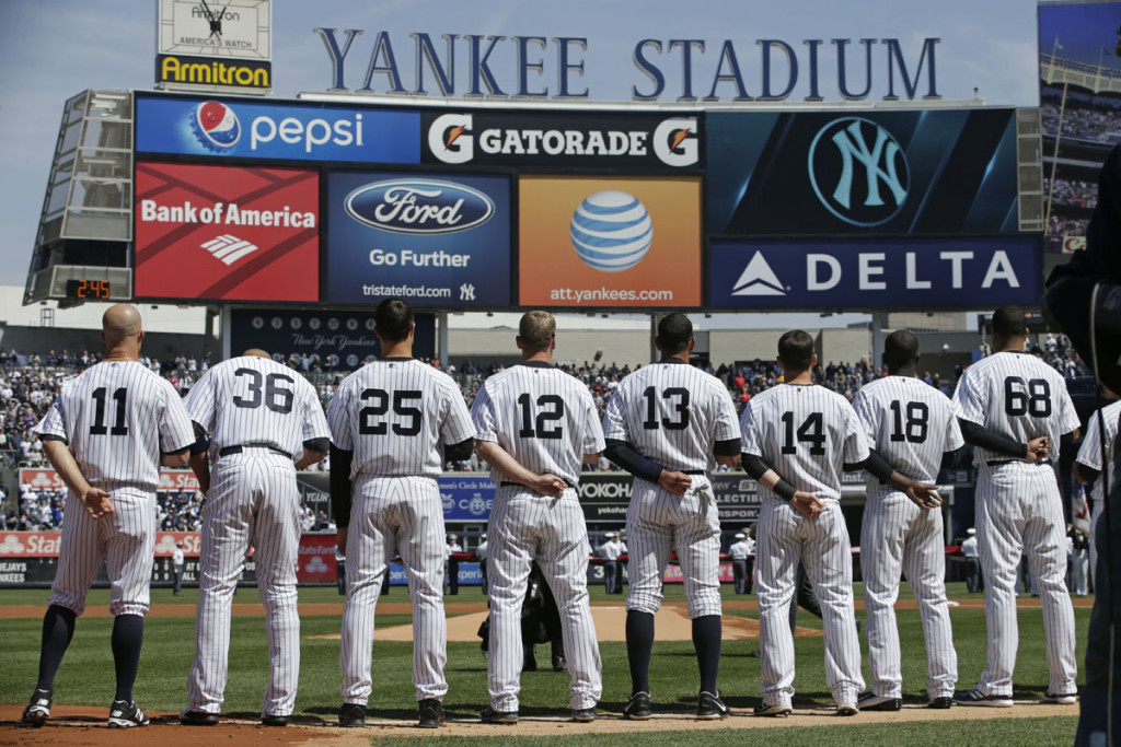 Monday, April 6, 2015. (AP Photo/Kathy Willens) ORG XMIT: NYY116